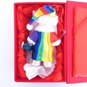 Swarovski Holiday - Swarovski Crystals Rainbow Peace Bear Ornament
